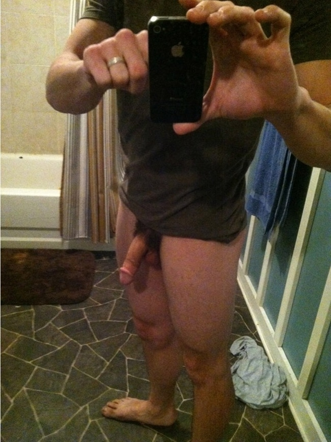 Taking Picture of His Cock