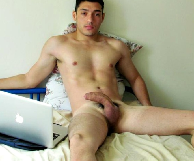 Nude Guy In Bed